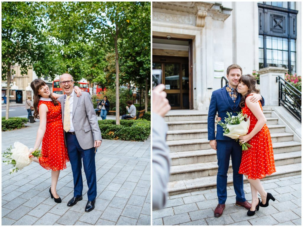 intimate ceremony at Islington Town Hall