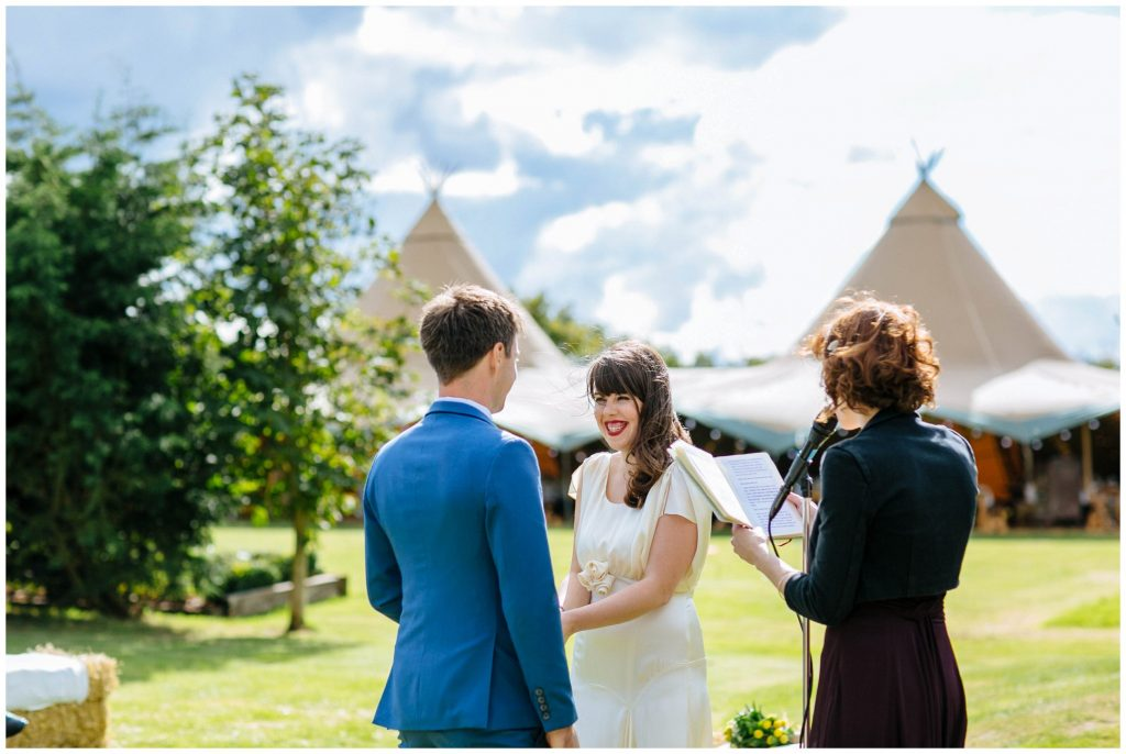 tipi wedding in Cambridge