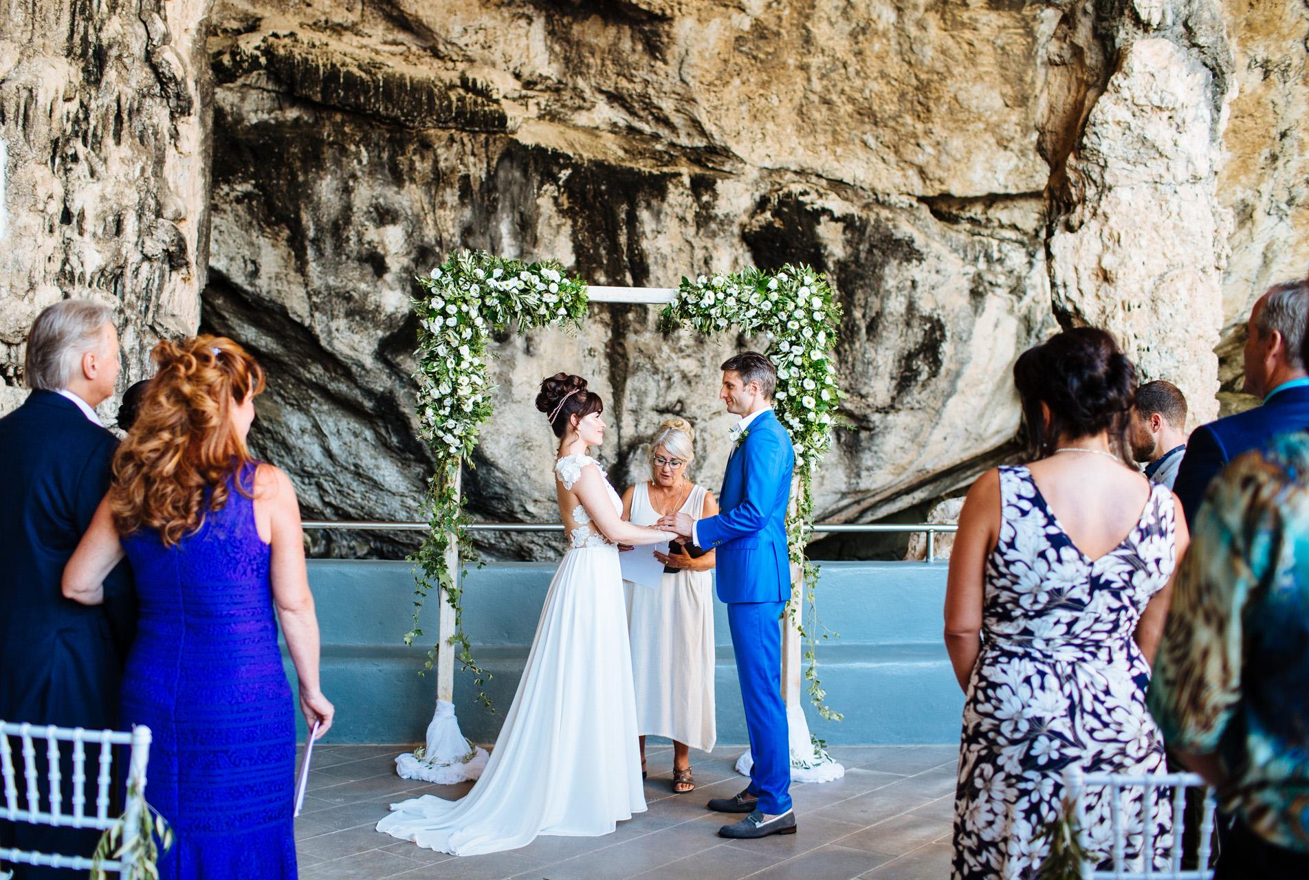 wedding cave ceremony