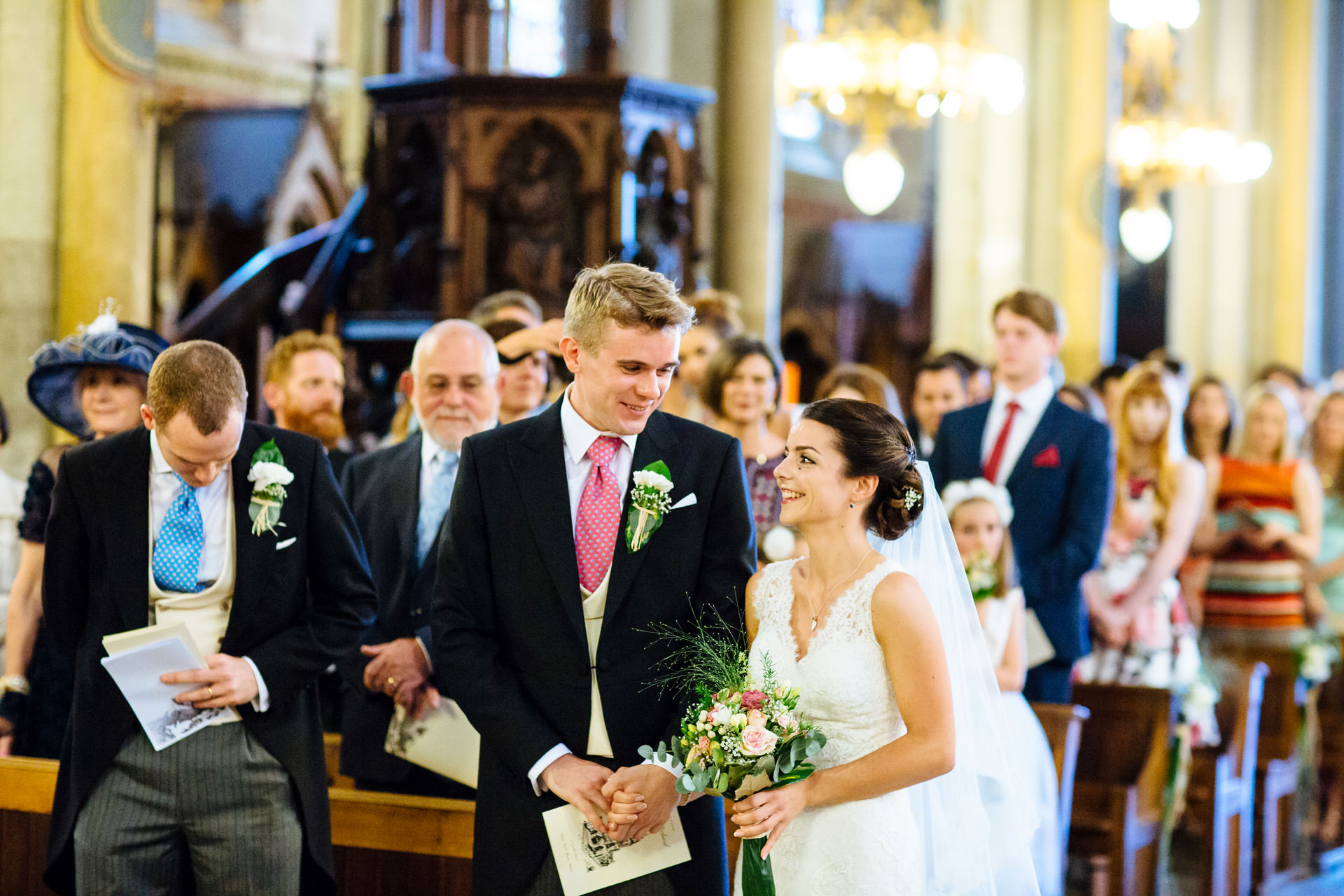 bride and groom ceremony voiron church