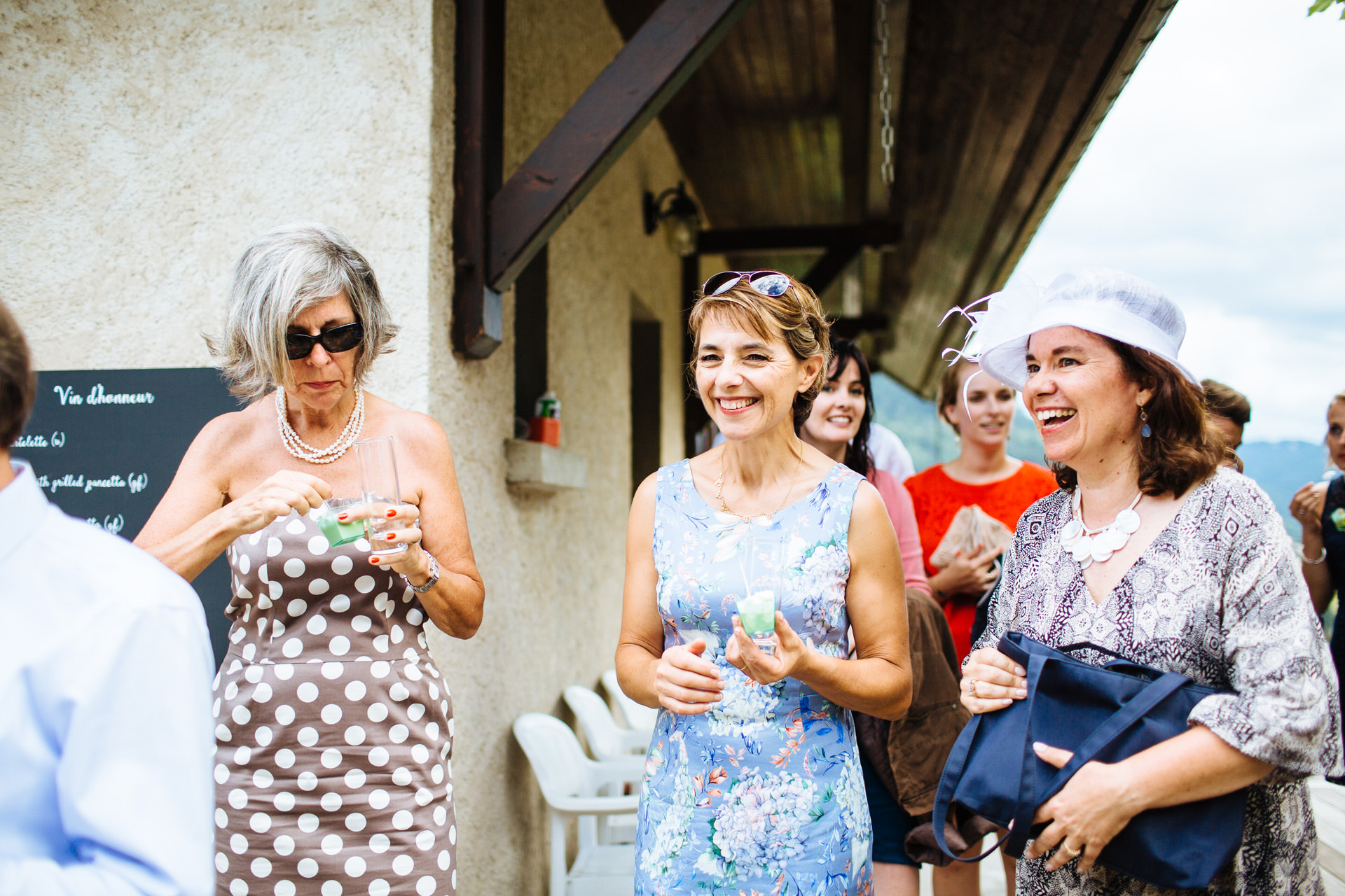 mother of the bride smiling and laughing
