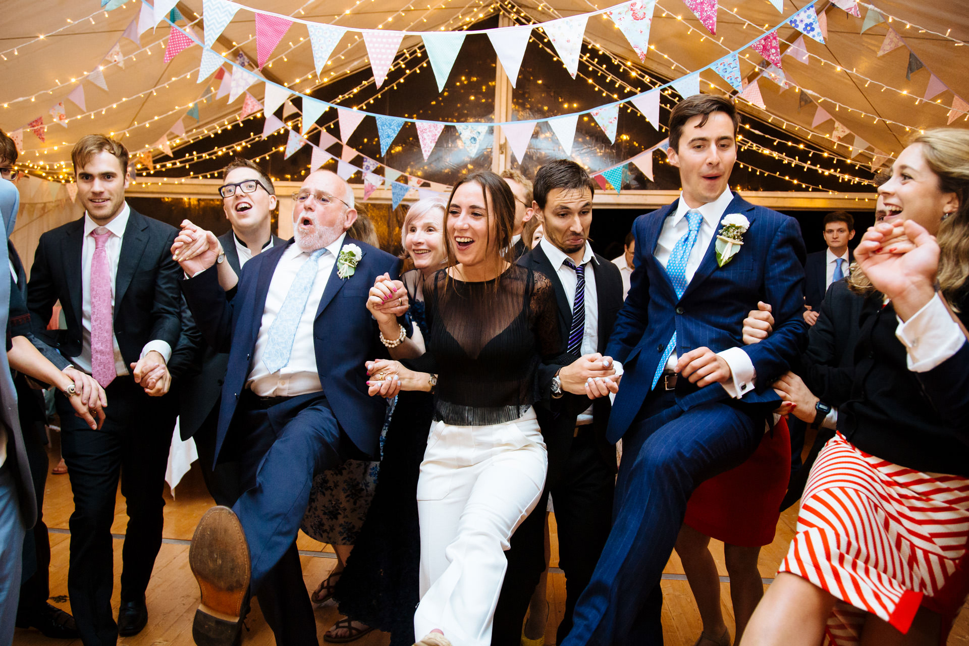 ceilidh wedding dance in marquee