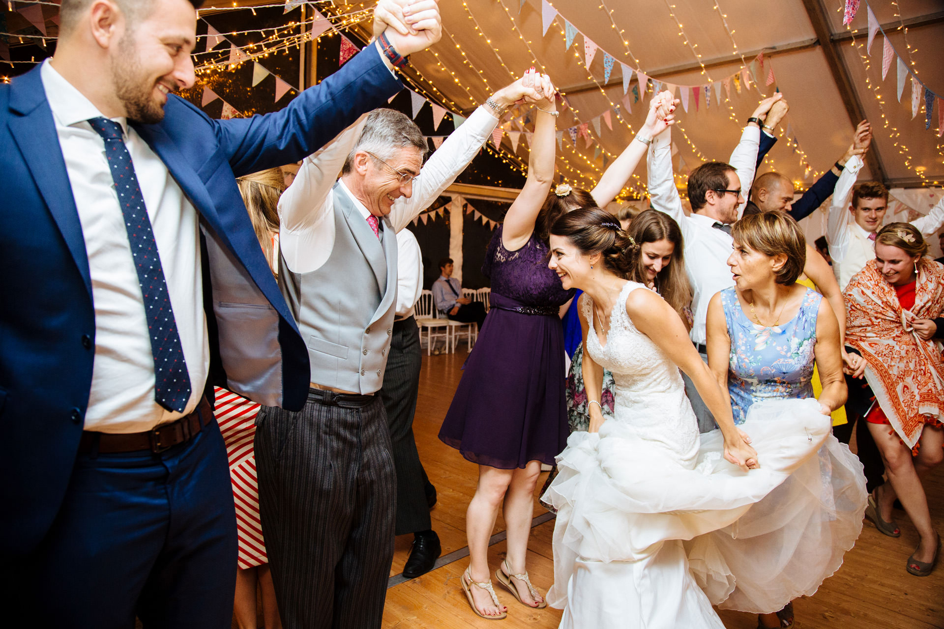 ceilidh wedding dance with bride
