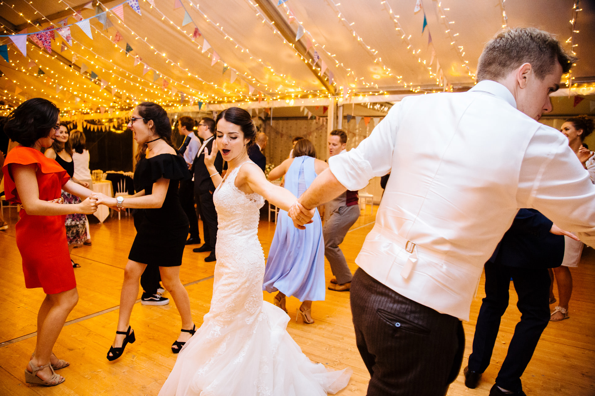 bride spinning and dancing