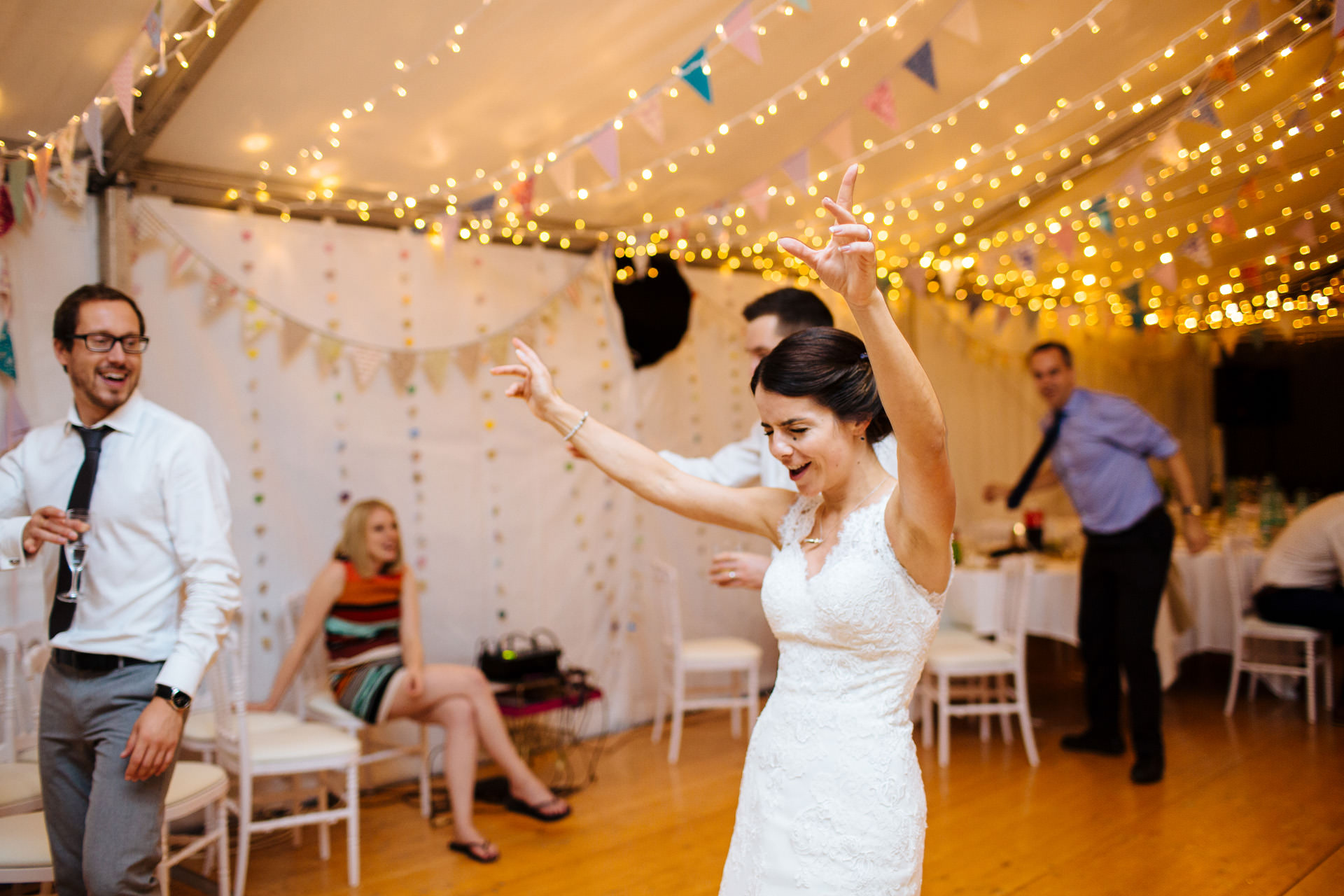 bride dancing to favourite song