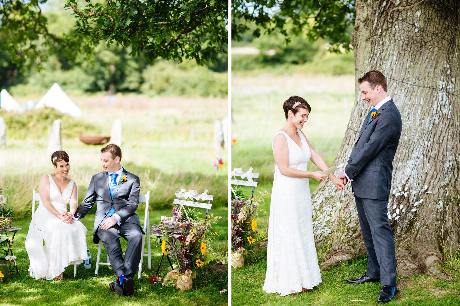 wedding vows underneath a tree