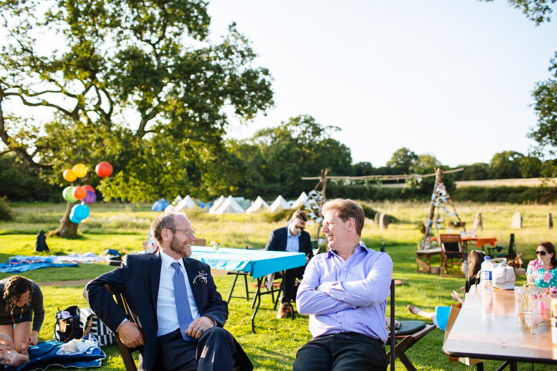 festival wedding camping weekend