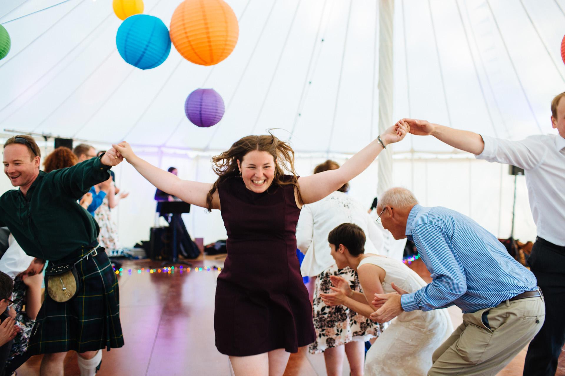 ceilidh dance at a wedding