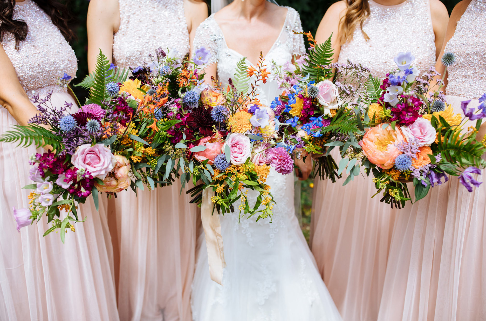 oversized rustic floral bridal bouquets