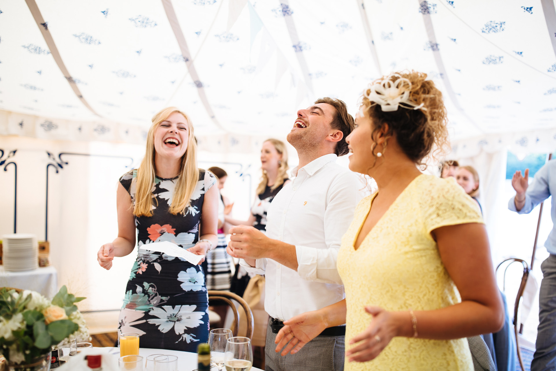three wedding guests singalong