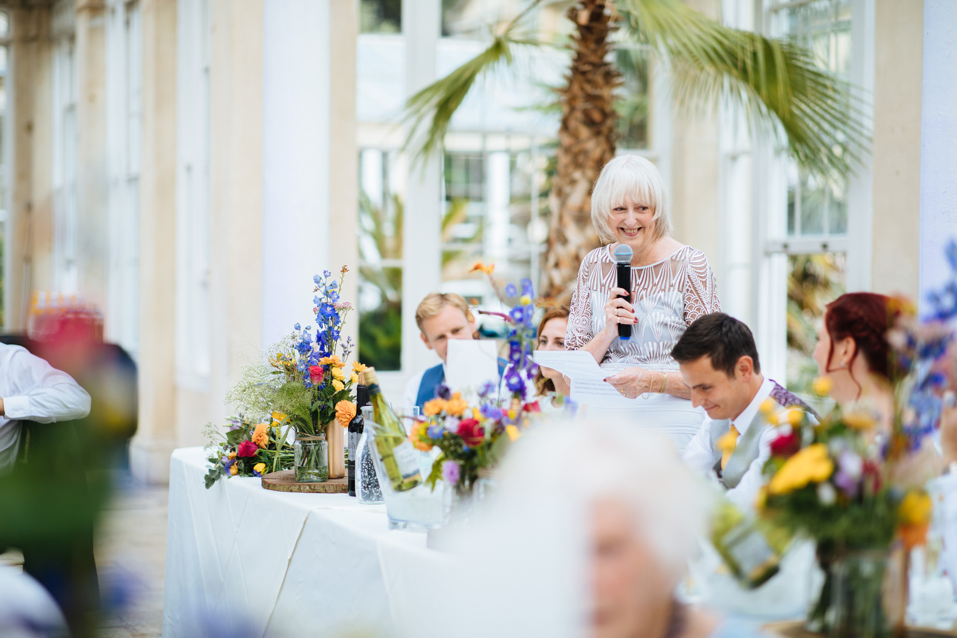 mother of the bride speech in the great conservatory at syon park