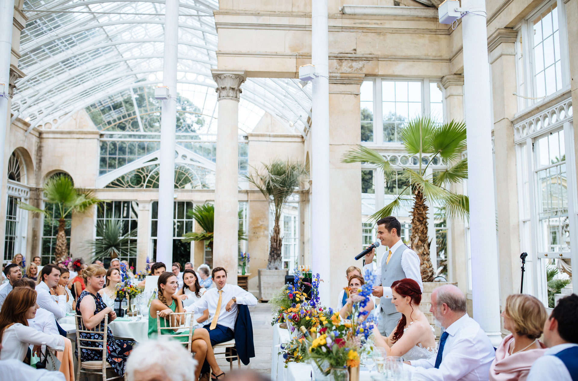 grooms speech in the great conservatory at syon park