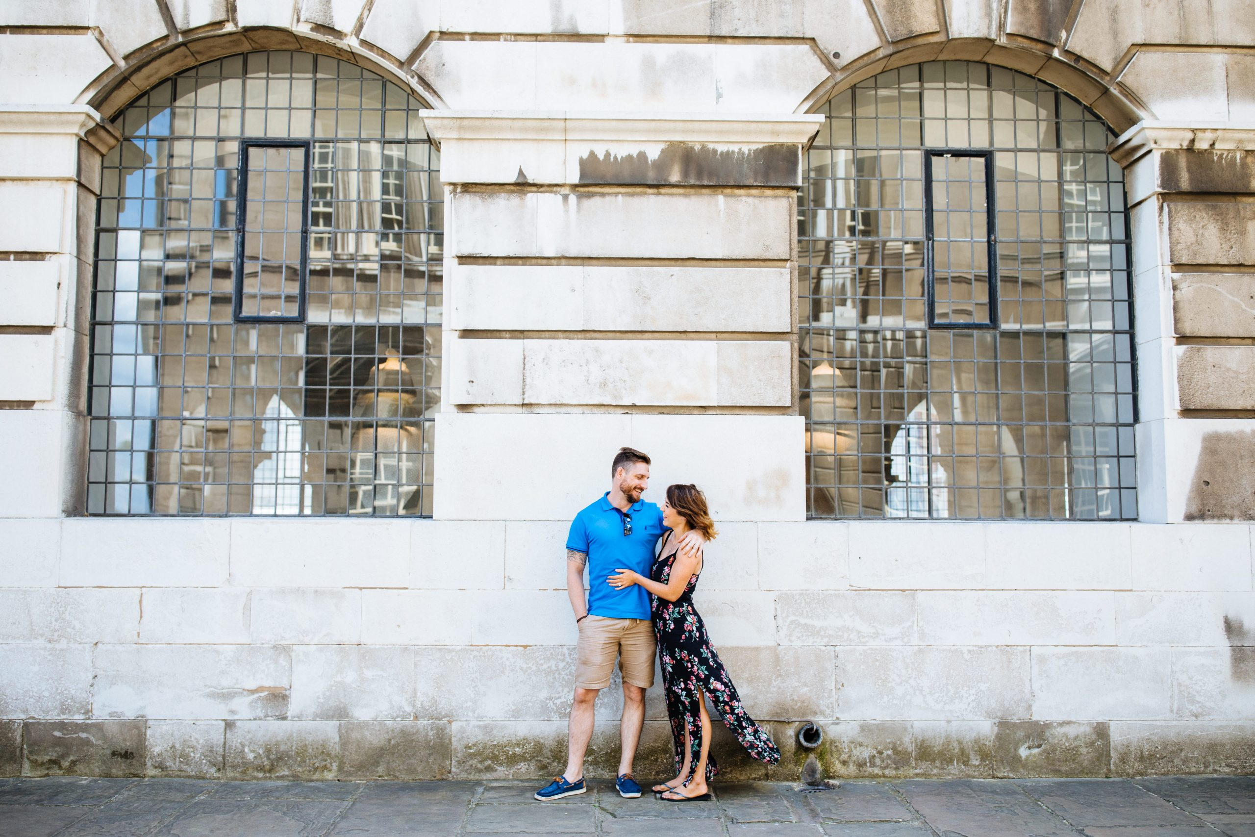 engagement shoot in Greenwich