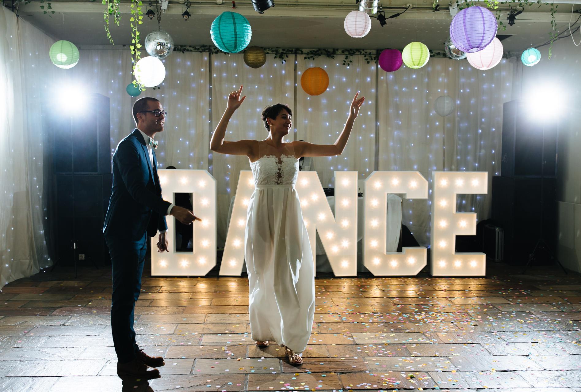 islington metal works wedding first dance
