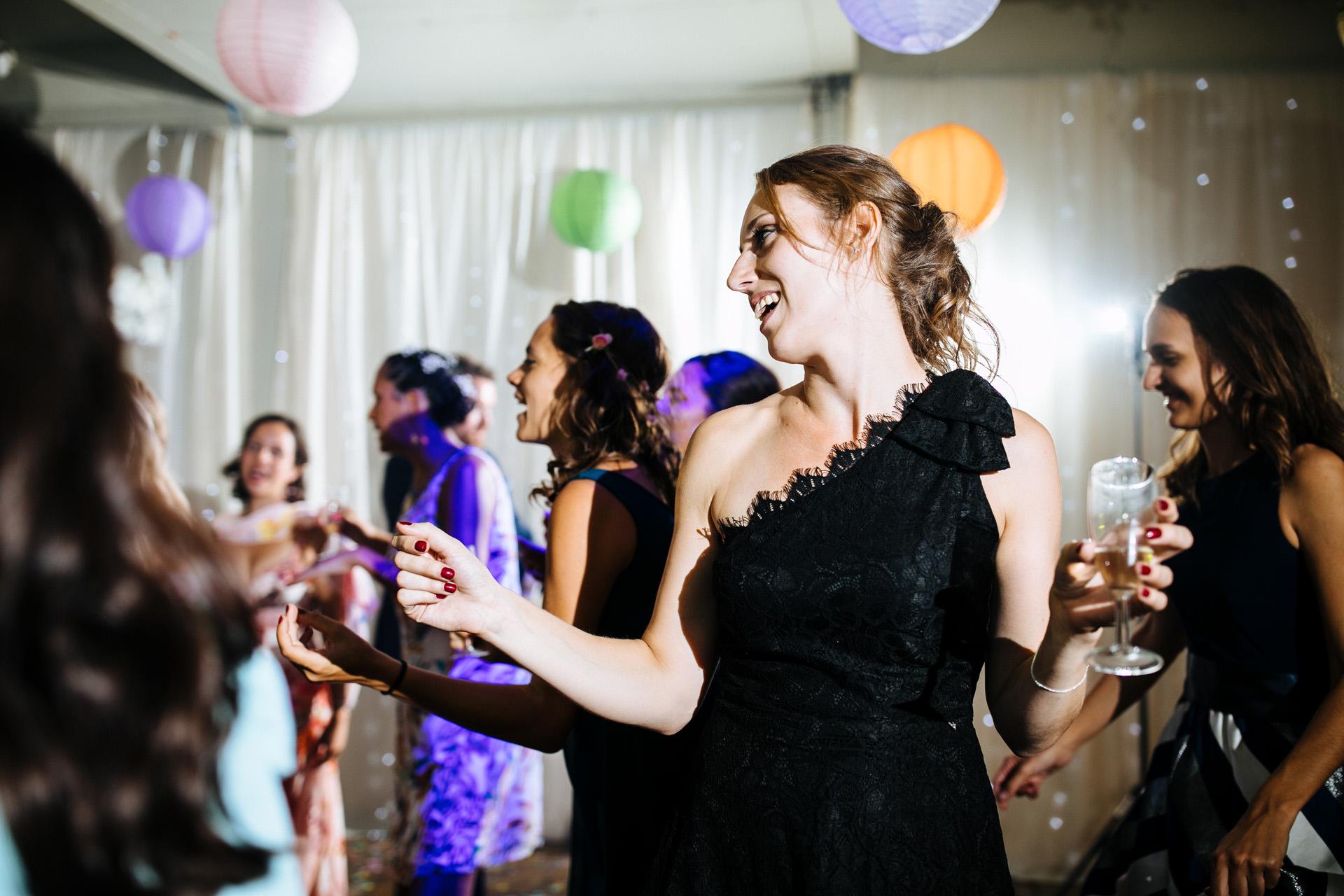 dancing at islington metal works wedding