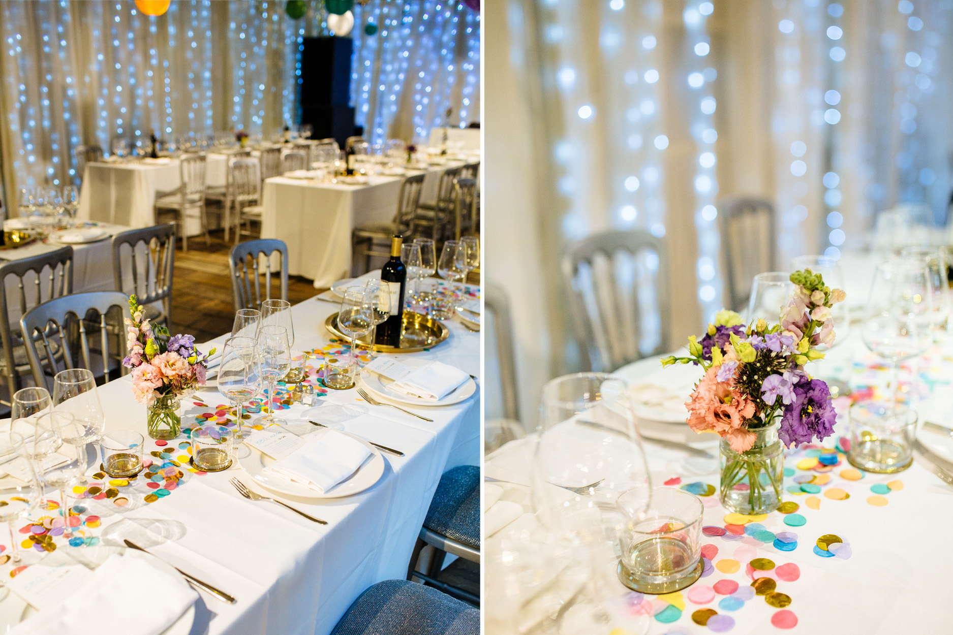 islington metal works wedding colourful table decor