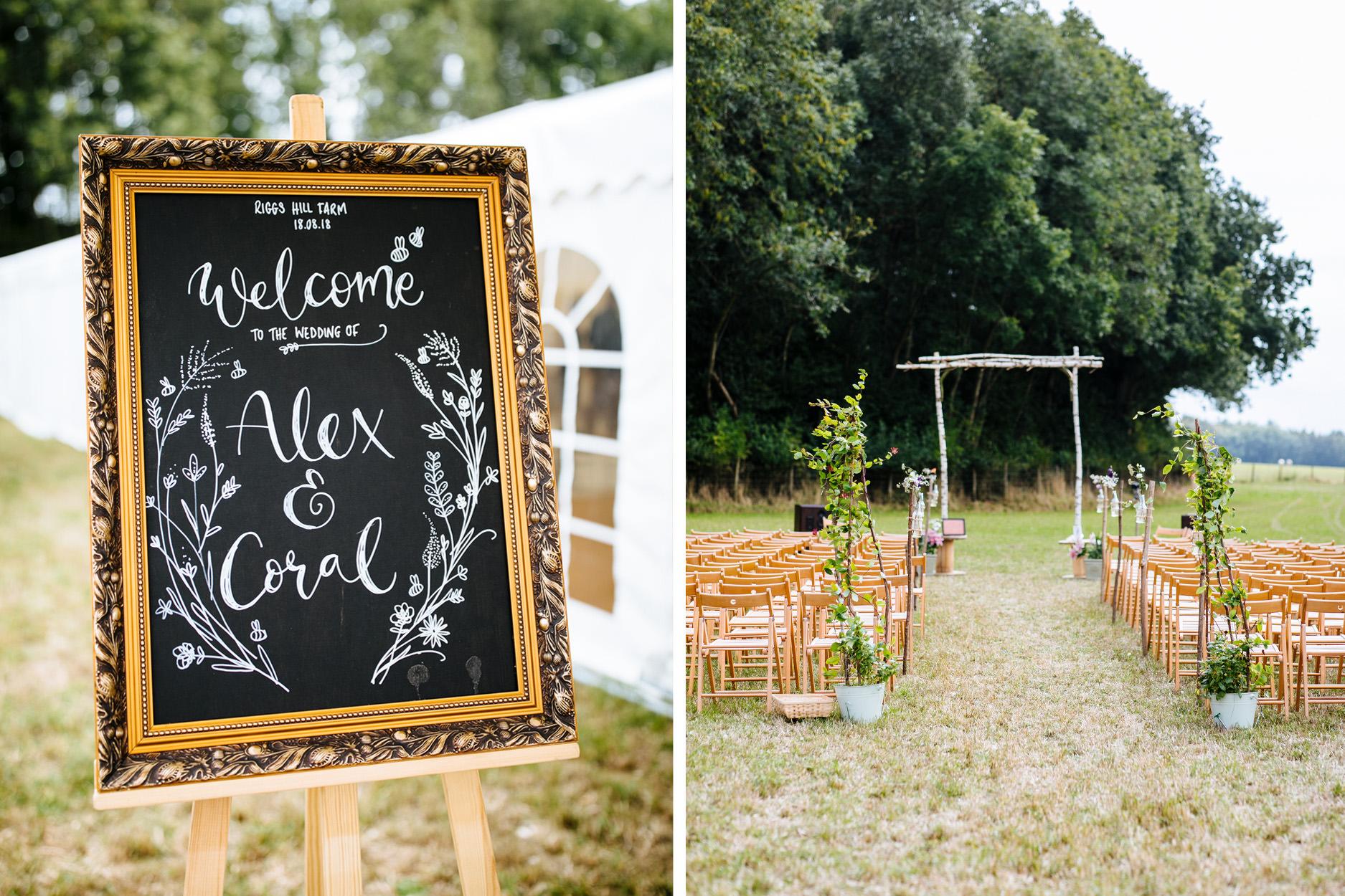 outdoor festival wedding in Kent