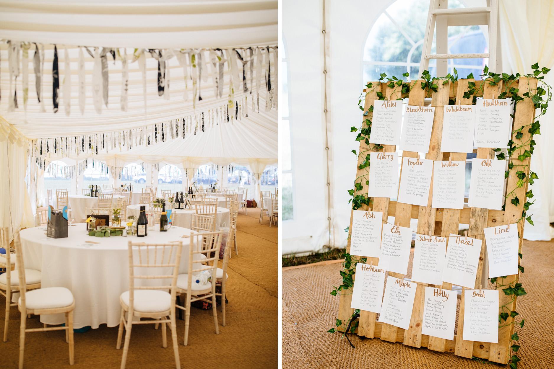 outdoor festival marquee wedding in Kent