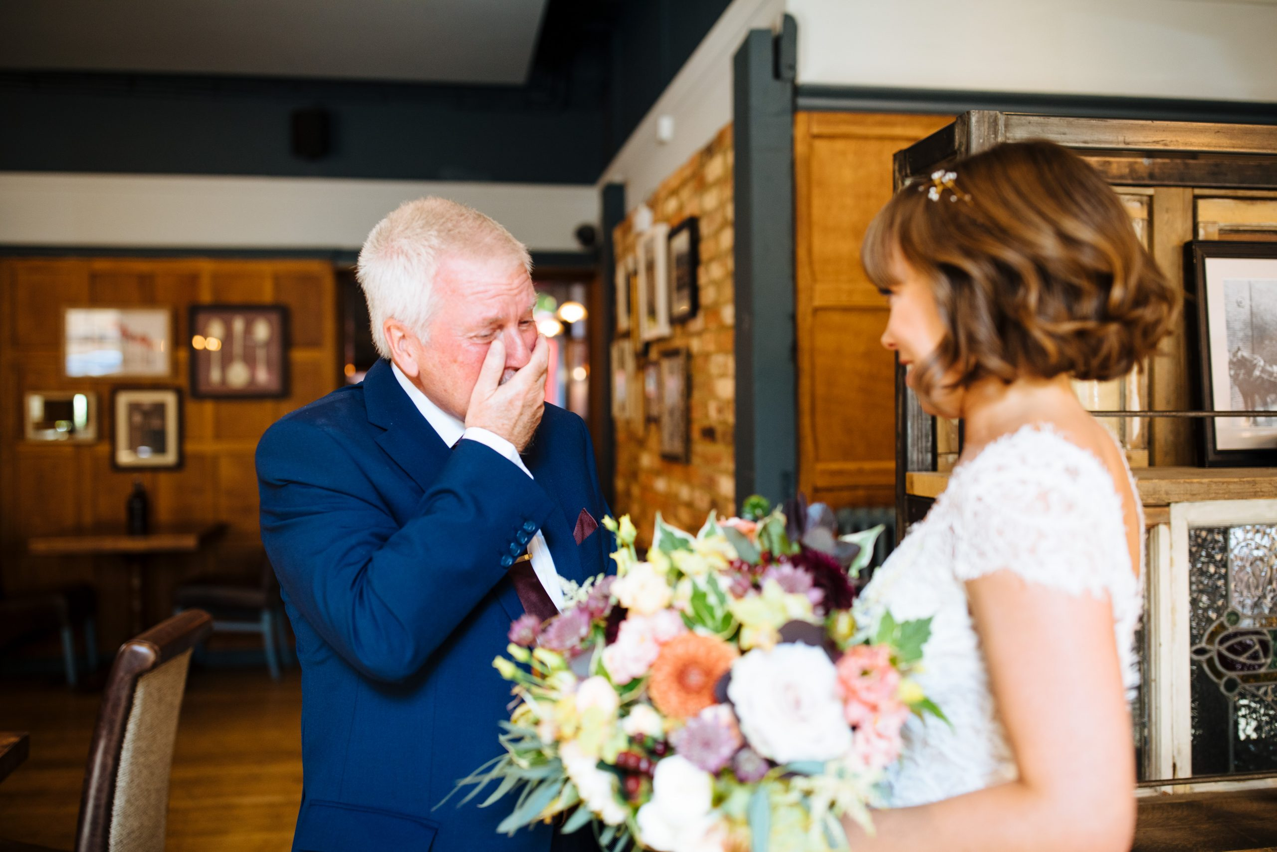dads tearful reaction to seeing bride in the dress