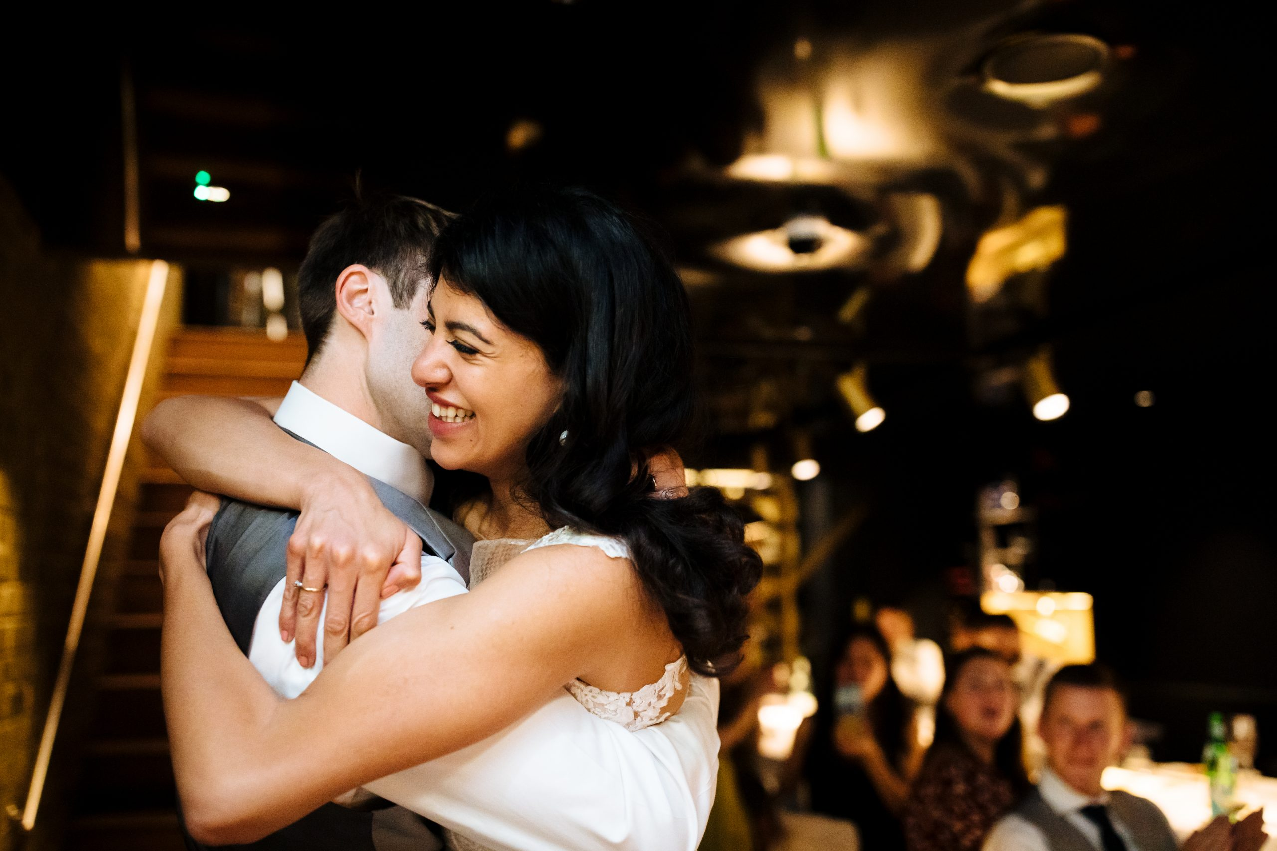 bride and groom first dance at London wedding