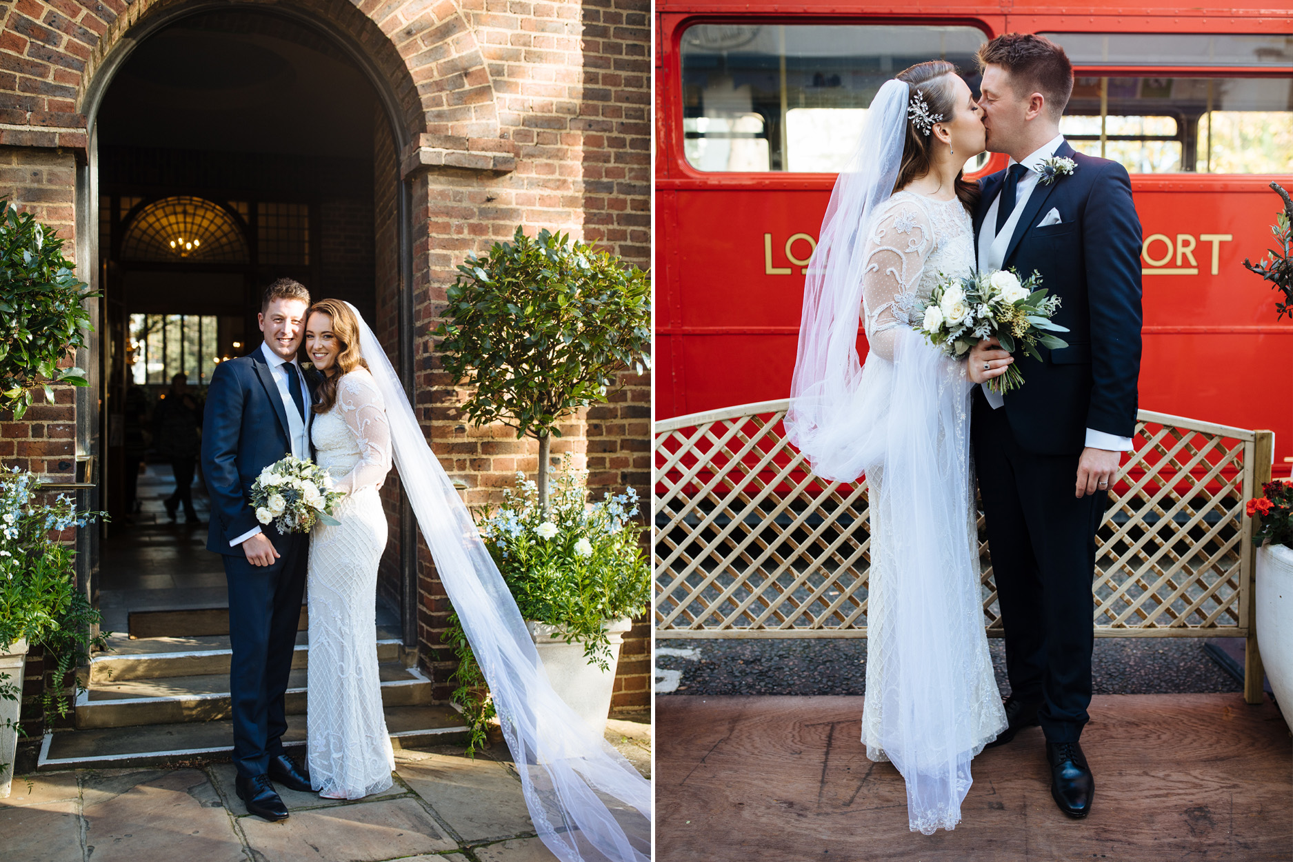 bride and groom wedding ceremony at Chelsea church